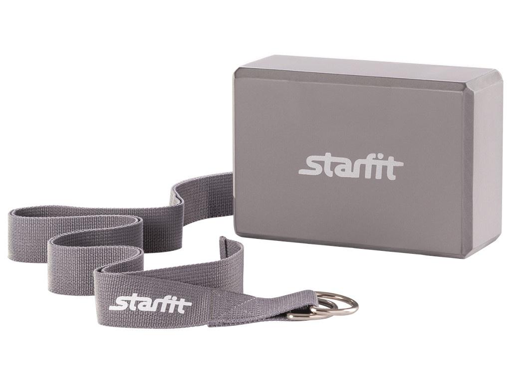 Комплект для йоги Starfit FA-104 Grey УТ-00008967