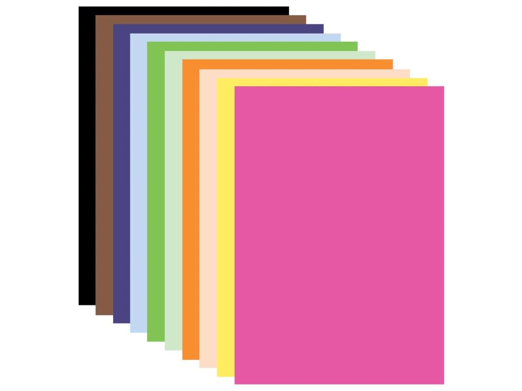 Цветная бумага Brauberg А3 10 цветов 20л Тонированная в массе 124713