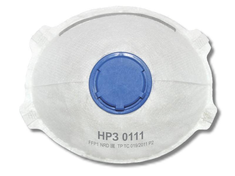 Защитная маска Рос НРЗ-0111 класс защиты FFP1 (до 4 ПДК) 5шт с клапаном