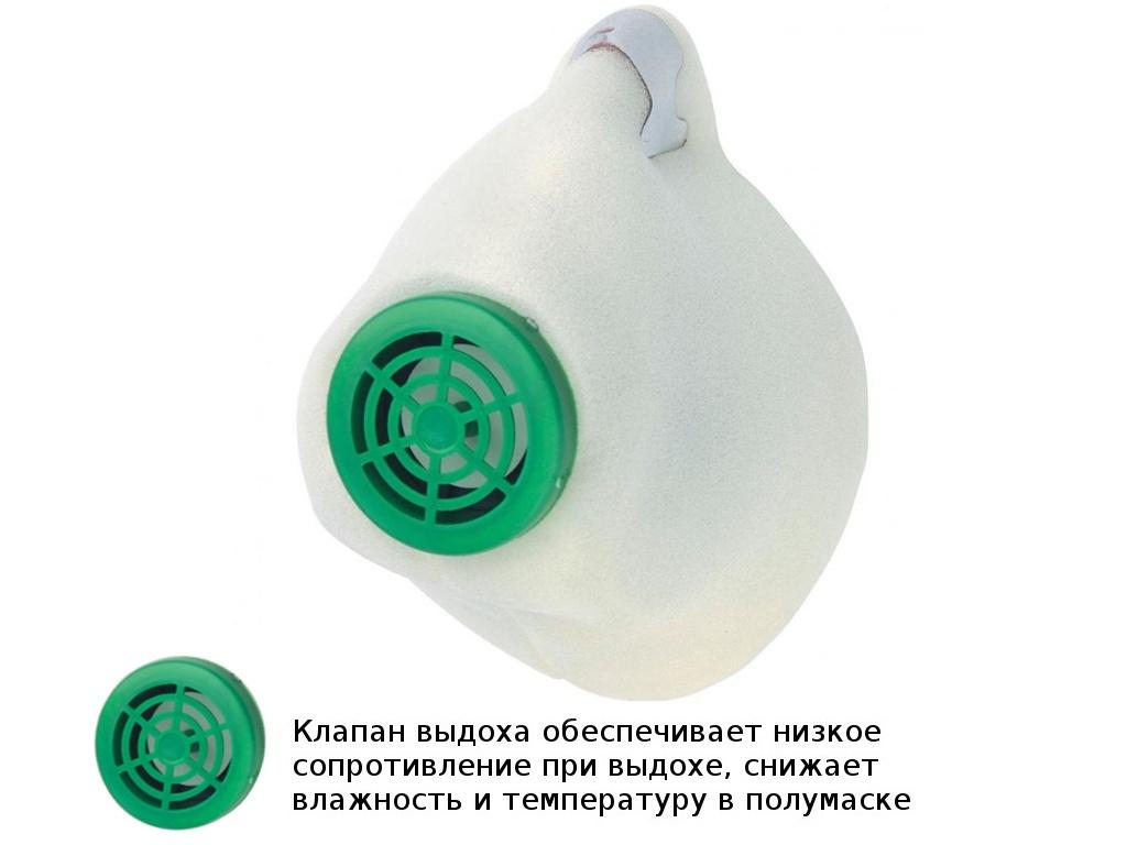 Защитная маска СибрТех У-2К класс защиты FFP1 (до 4 ПДК) 89213