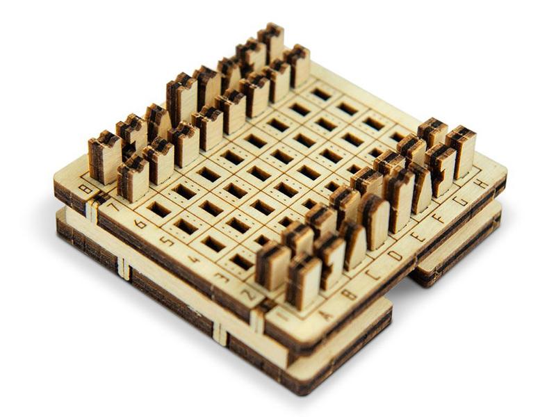 Сборная модель Wooden City Шахматы WG204