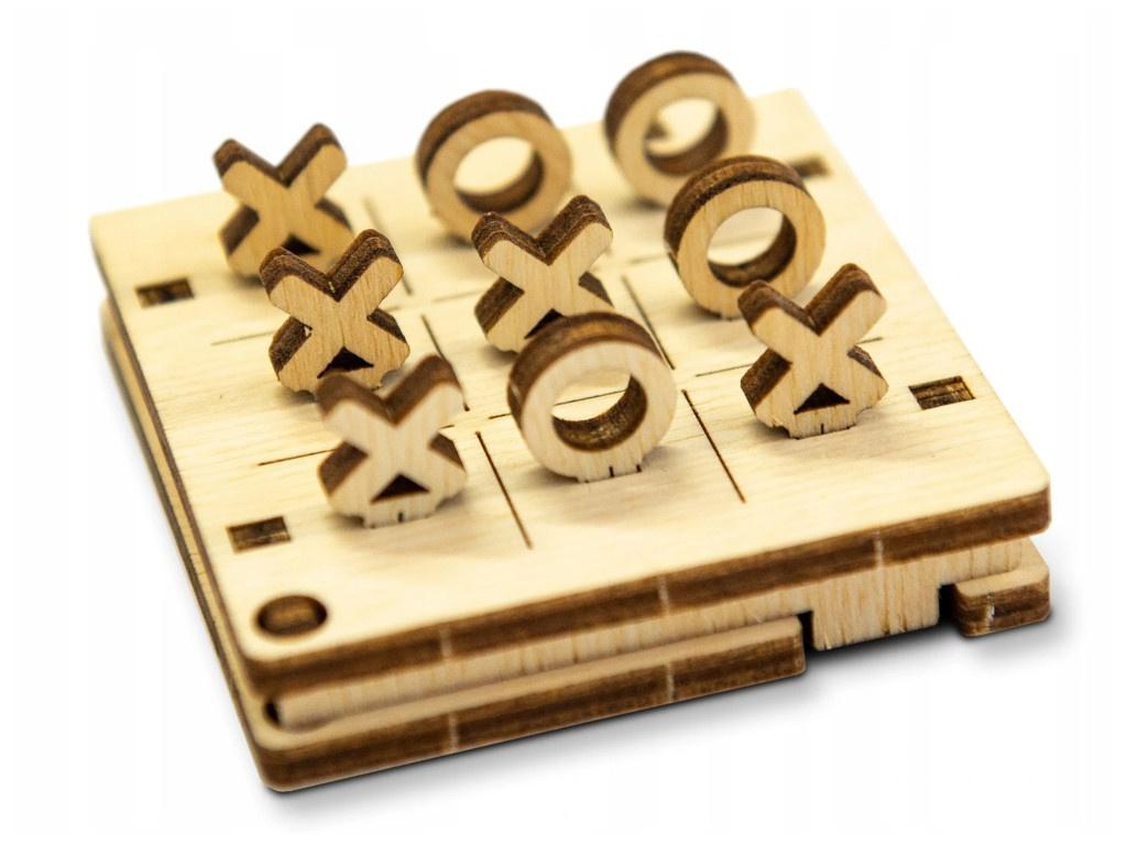 Сборная модель Wooden City Крестики Нолики №1 WG201