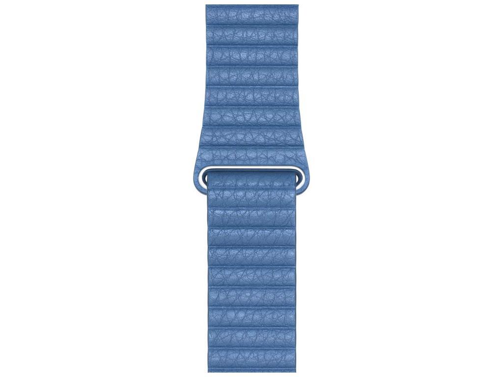 Аксессуар Ремешок Devia Belt Elegant Leather Loop для Apple Watch 42/44mm Cod Blue 27827