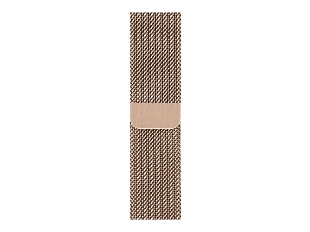 Аксессуар Ремешок Devia Belt Elegant Series Milanese Loop для Apple Watch 42/44mm Gold 27834