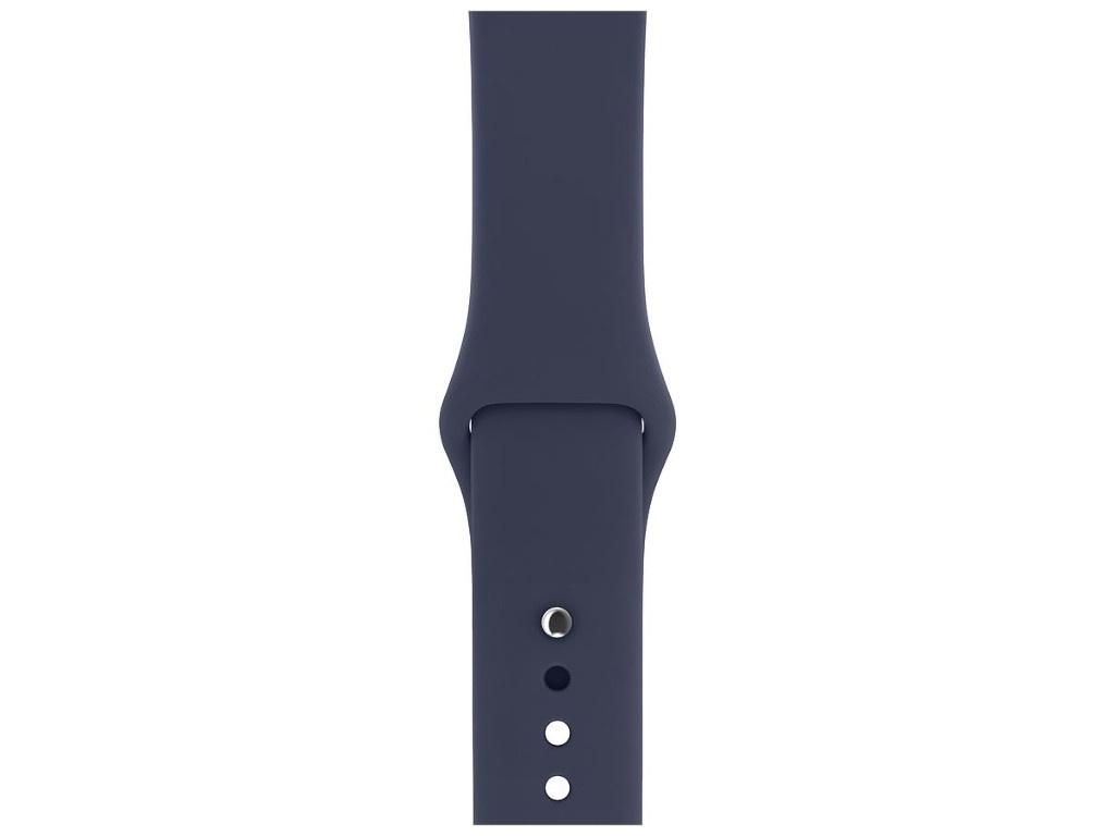 Аксессуар Ремешок Devia Belt Deluxe Sport Band для Apple Watch 42/44mm Midnight Blue 27846 silicone rubber watch band 17mm 18mm 19mm 20mm 21mm 22mm 23mm 24mm universal watchband strap wrist belt bracelet