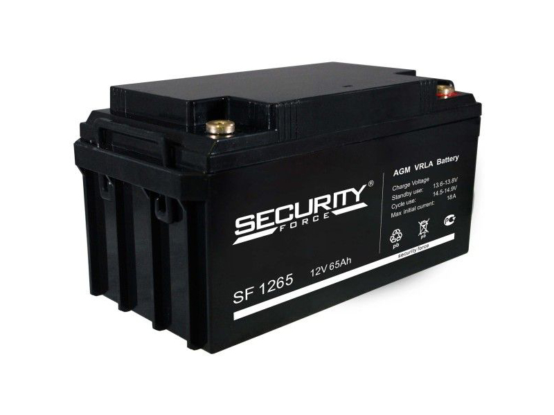 Аккумулятор Security Force 12V 65Ah SF 1265