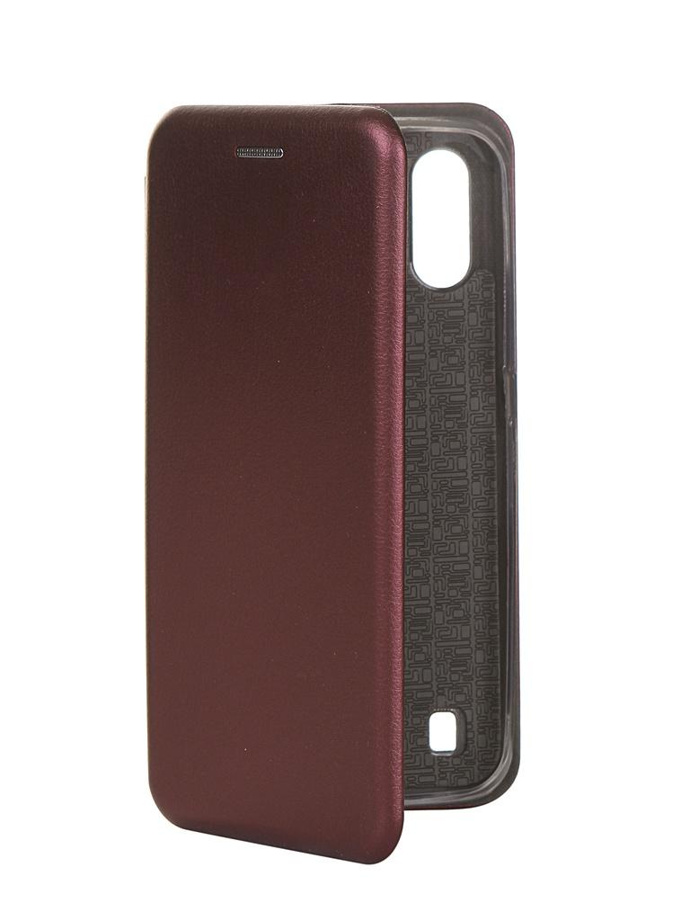 Чехол Zibelino для Samsung Galaxy A01 A015 Book Bordo ZB-SAM-A015-BRD