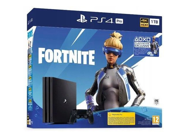 цена на Игровая приставка Sony PlayStation 4 Pro 1Tb Black CUH-7108B + игра Fortnite VCH PS719350101