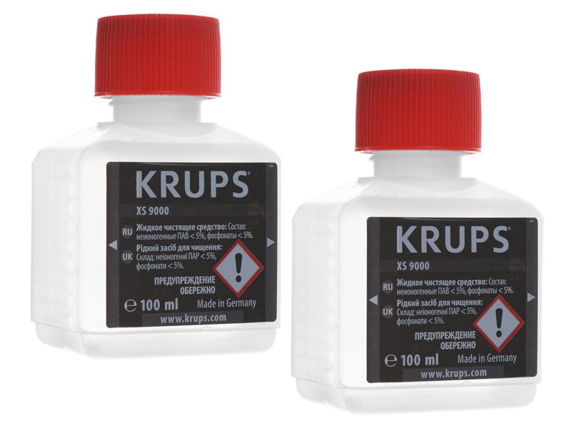 Жидкость для очистки Krups XS900031 жидкость для очистки krups xs900031 100 мл х 2