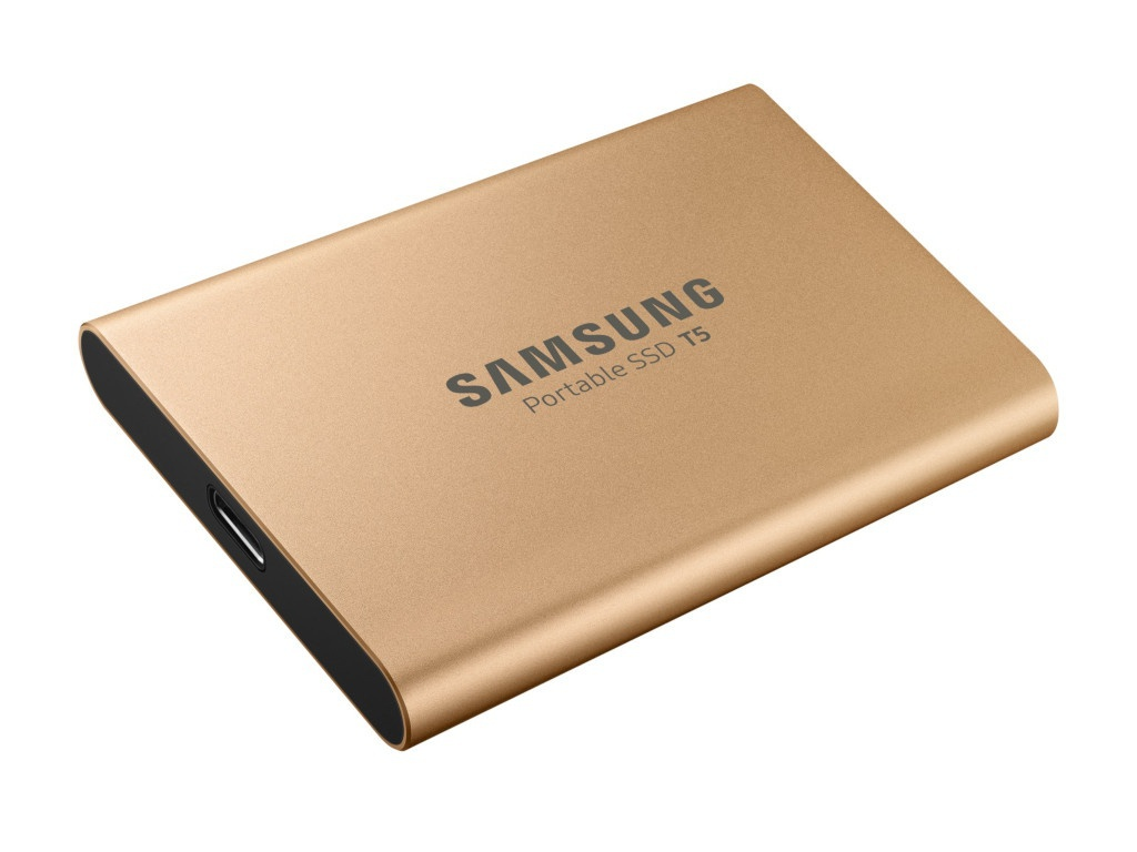 Жесткий диск Samsung Portable SSD T5 500Gb Gold MU-PA500G/WW Выгодный набор + серт. 200Р!!! внешний жесткий диск 1 8 usb3 1 500gb samsung t5 синий mu pa500b ww