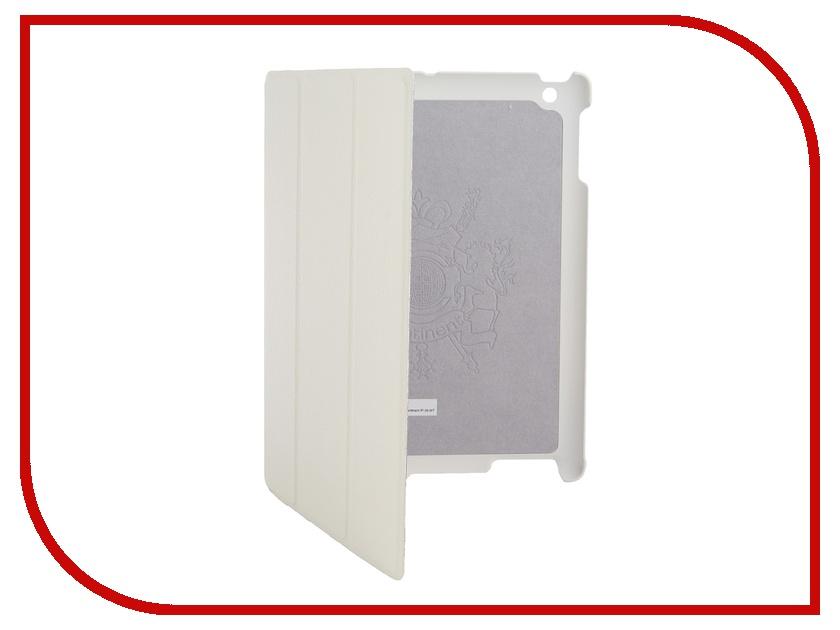 Аксессуар Чехол Continent для iPad 2 / iPad 3 NEW кожаный White IP-39<br>