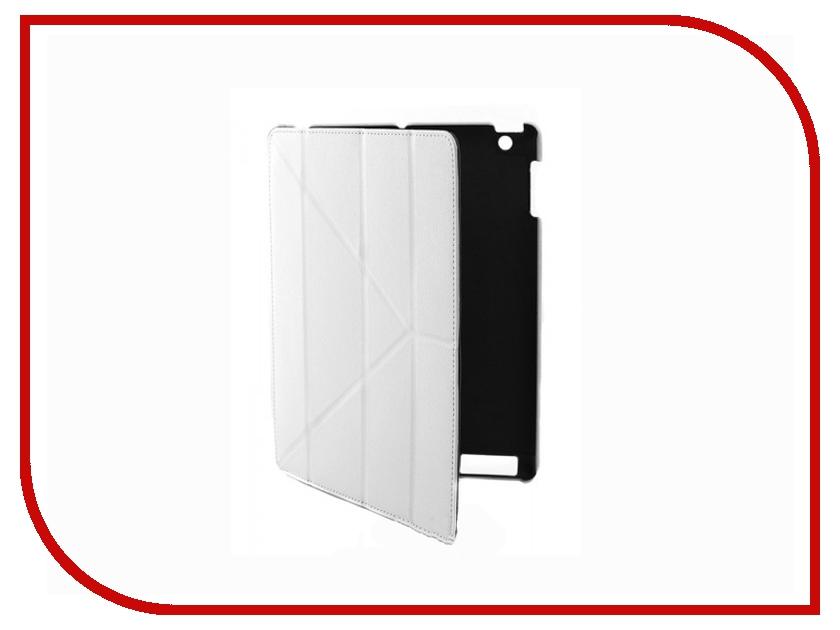 Аксессуар Чехол Continent для iPad 2 / iPad 3 NEW кожаный White IP-41