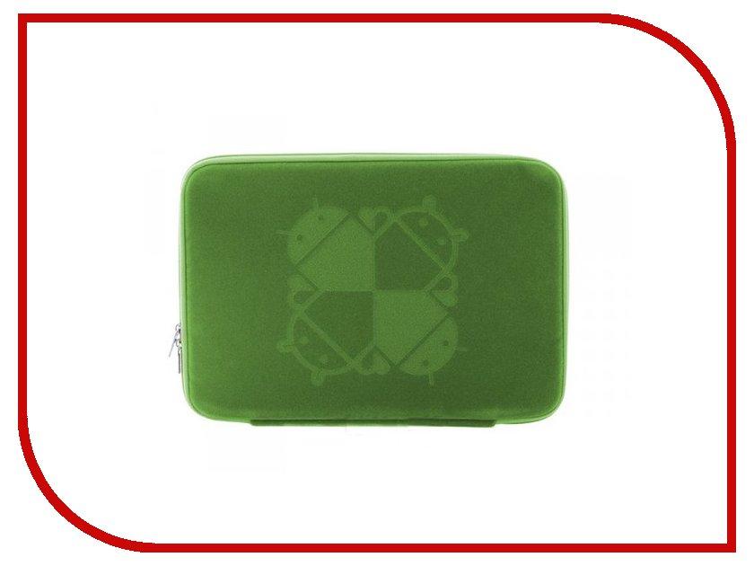 Аксессуар Чехол 7.0 Qumo Velour 4:3 Green 2