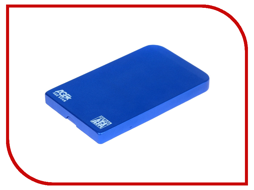Внешний корпус AgeStar SUB2O1 Blue мобил рек agestar sub2o1 red usb2 0 to 2 5hdd sata алюминий