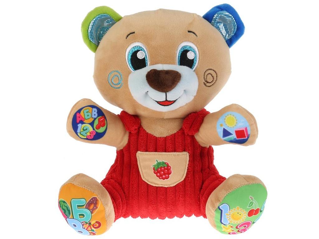 Игрушка Мульти-пульти Медведь учим цифры, буквы, формы 25cm V92637-25
