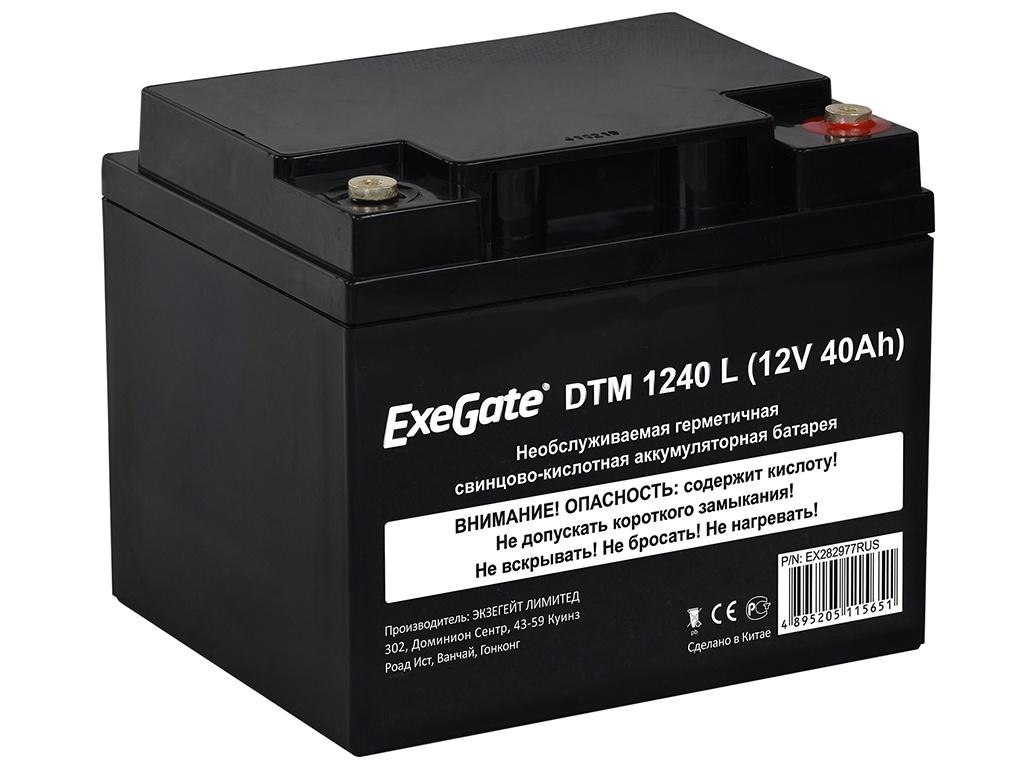цена на Аккумулятор для ИБП ExeGate DTM 1240 L 12V 40Ah клеммы под болт M5 EX282977RUS