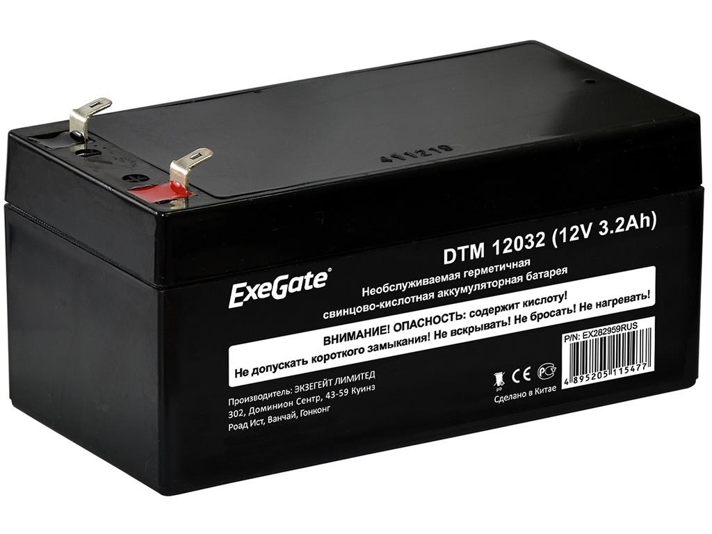 Аккумулятор для ИБП ExeGate DTM 12032 12V 3.2Ah клеммы F1 EX282959RUS