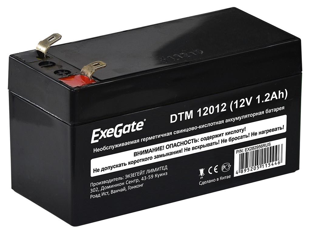 Аккумулятор для ИБП ExeGate DTM 12012 12V 1.2Ah клеммы F1 EX282956RUS