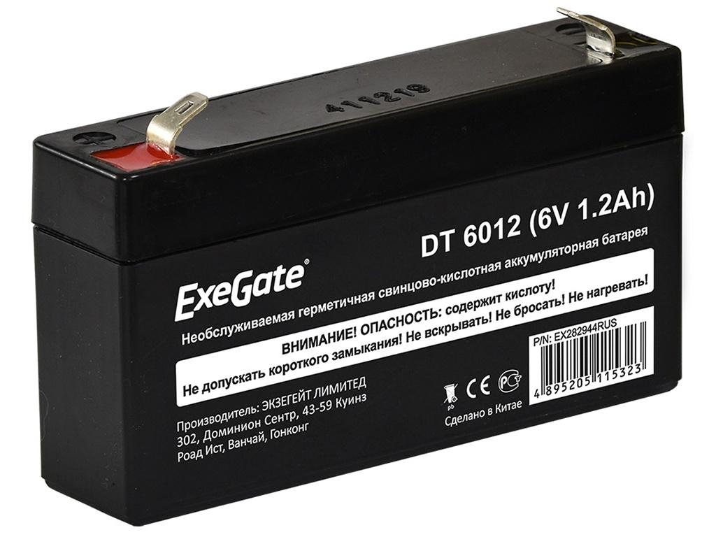 Аккумулятор для ИБП ExeGate DT 6012 6V 1.2Ah клеммы F1 EX282944RUS