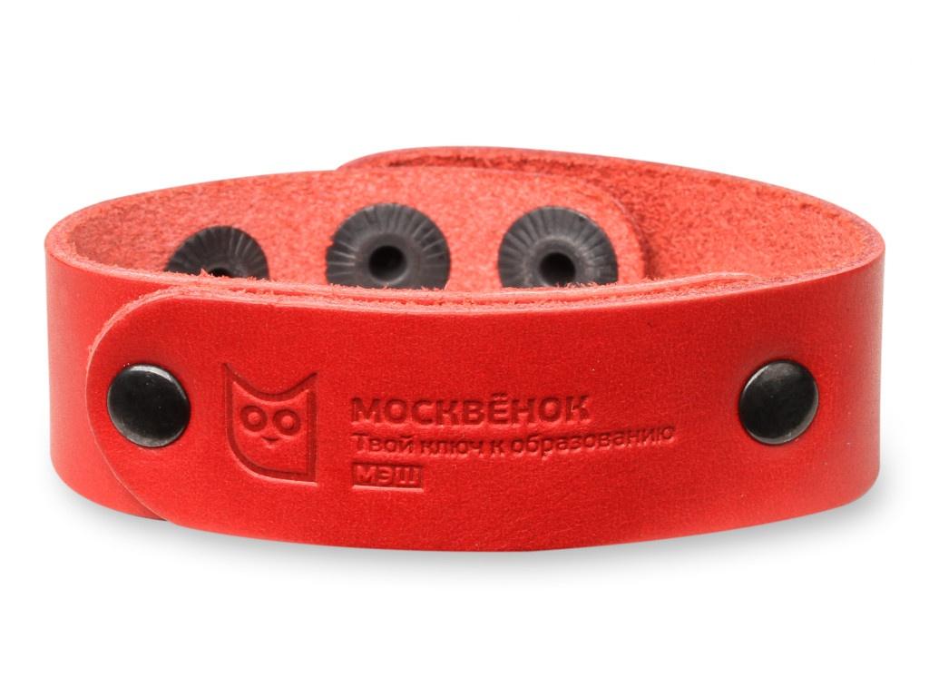 Умный браслет Wochi P Москвёнок RFID со встроенным чипом р.S Leather Red WCH-PS2-RU