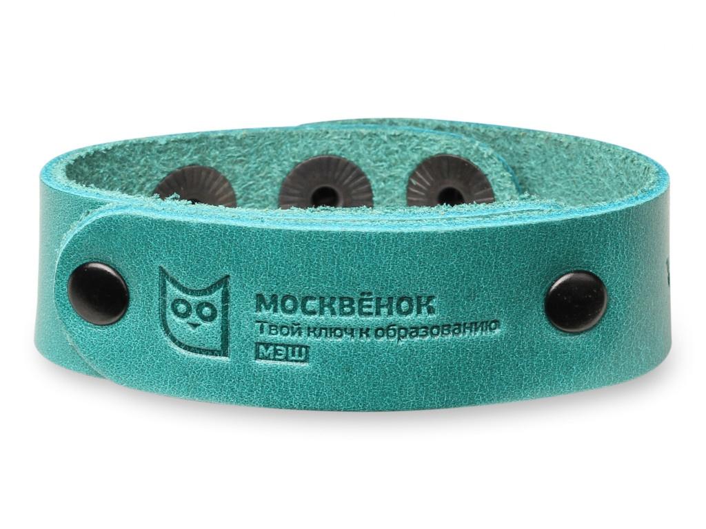 Умный браслет Wochi P Москвёнок RFID со встроенным чипом р.S Leather Green WCH-PS4-RU