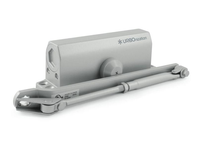 Доводчик дверной Нора-М 540 URBOnization 80-120кг морозостойкий Grey 16635