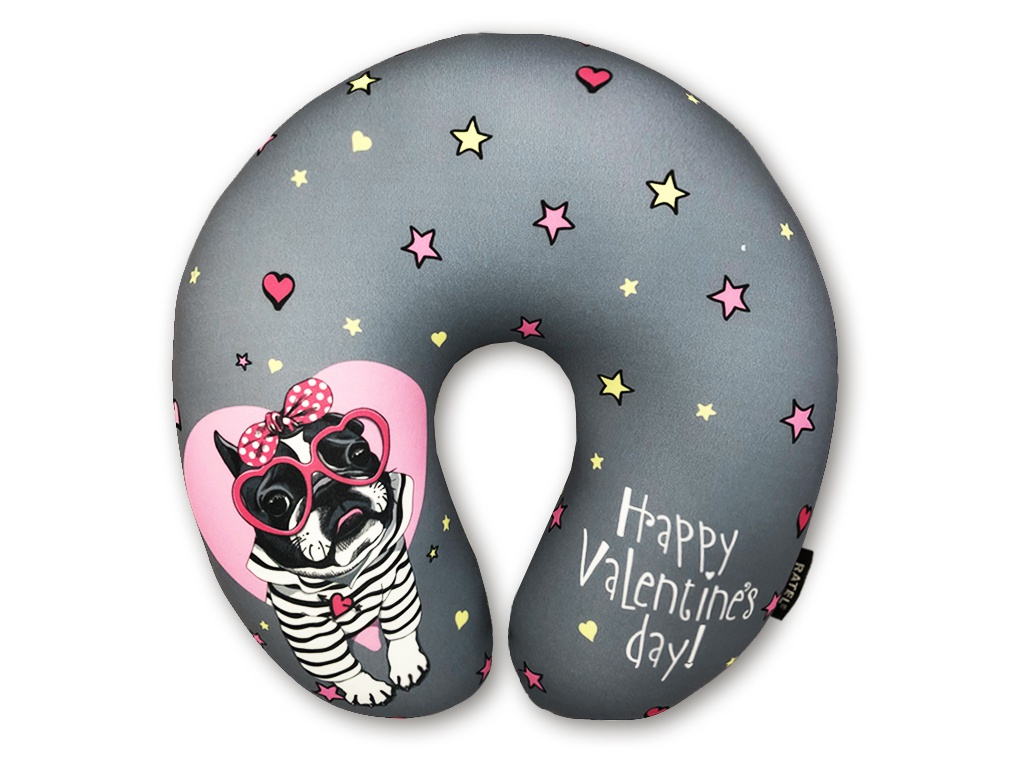 Подушка Ratel Happy Valentines Day Pink Glasses ( для сна)