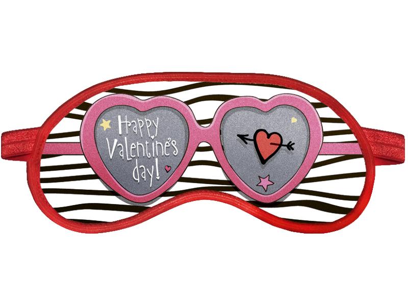 Маска для сна Ratel Happy Valentines Day Pink Glasses