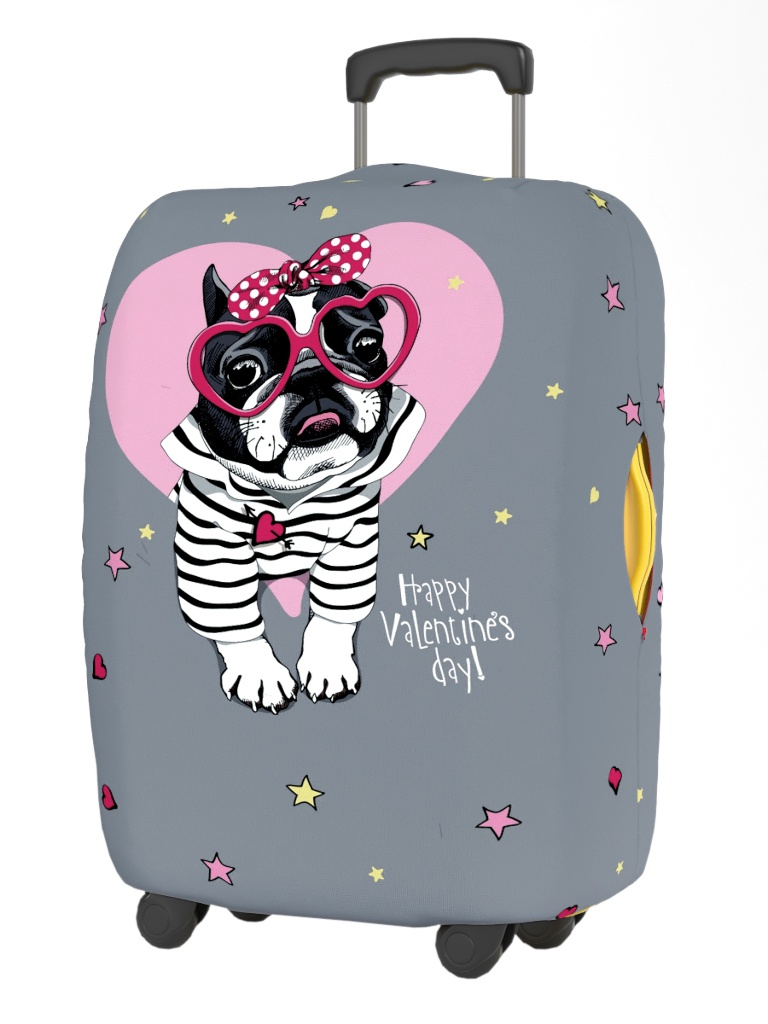 Чехол для чемодана RATEL Happy Valentines Day размер S Pink Glasses