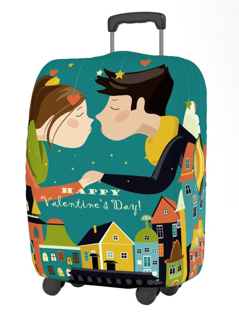 Чехол для чемодана RATEL Happy Valentines Day размер M Kiss