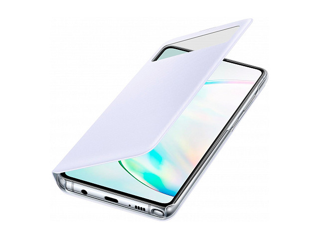Чехол для Samsung Galaxy Note 10 Lite S View Wallet Cover White EF-EN770PWEGRU
