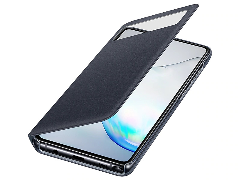 Чехол для Samsung Galaxy Note 10 Lite S View Wallet Cover Black EF-EN770PBEGRU чехол крышка samsung clear cover ef qg960ttegru для samsung galaxy s9 прозрачный