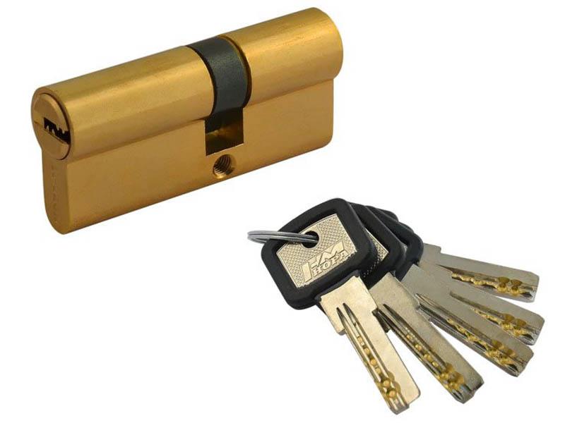 Цилиндровый механизм Нора-М ЛПУ-70 (40-30) Brass 12686 фото