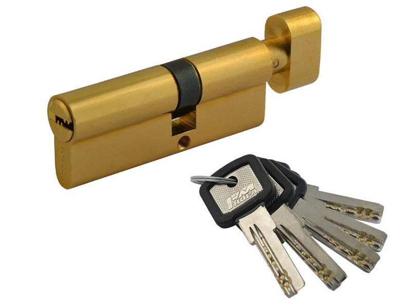 Цилиндровый механизм Нора-М ЛПУВ-80 (45-35в) Brass 12694