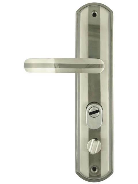 Ручка дверная Нора-М 200-68мм Правая Matt Chrome-Black Nickel 9131