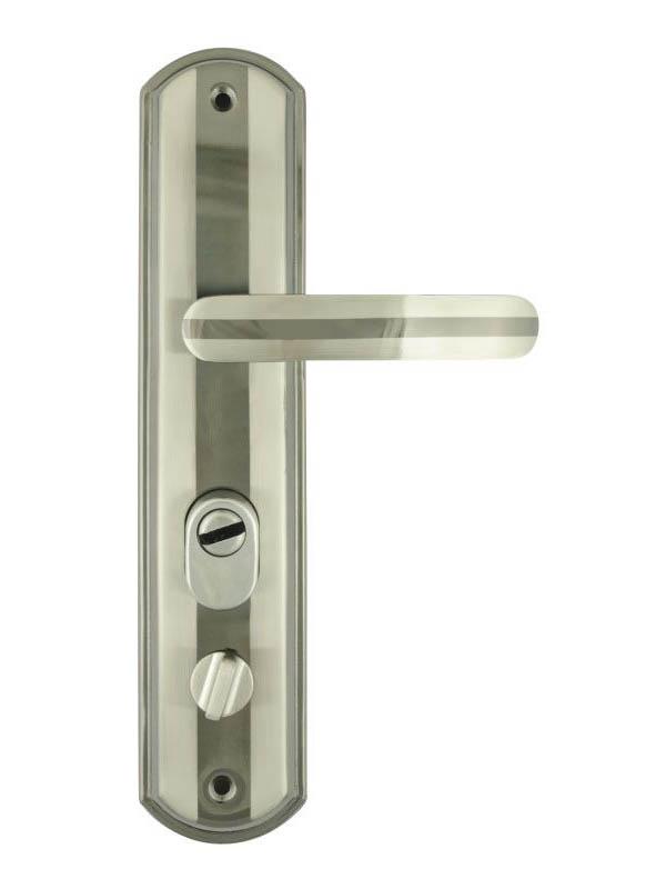 Ручка дверная Нора-М 200-68мм Левая Matt Chrome-Black Nickel 5550