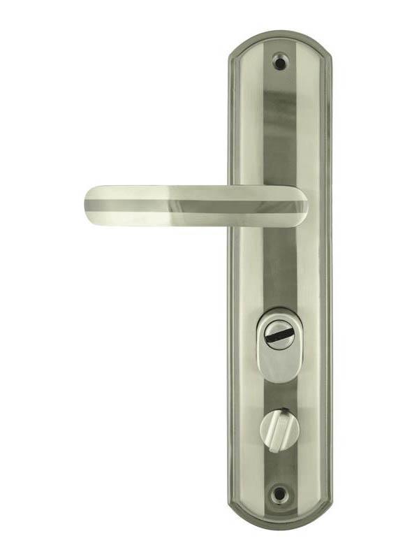 Ручка дверная Нора-М 200-68мм Eco Правая Matt Chrome-Black Nickel 16676