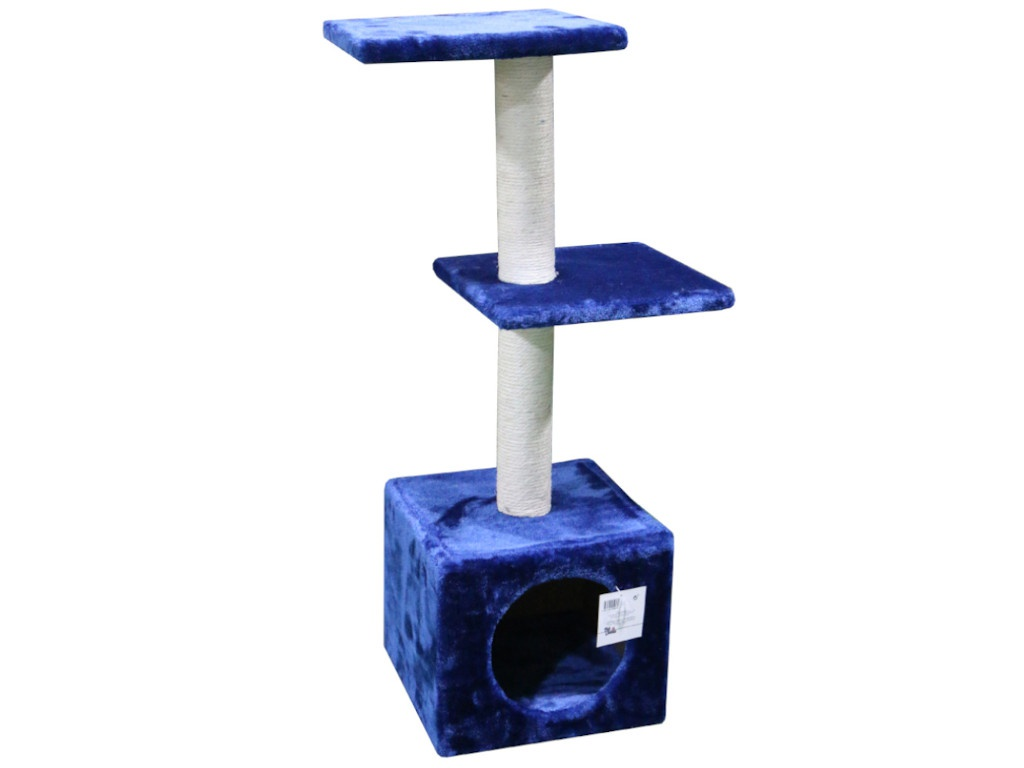 Когтеточка Pet Choice 30x30x88cm SBE812-Dark_Blue