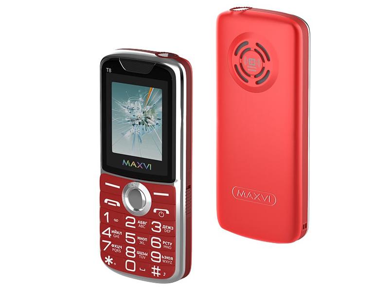 цена Сотовый телефон Maxvi T8 Red онлайн в 2017 году