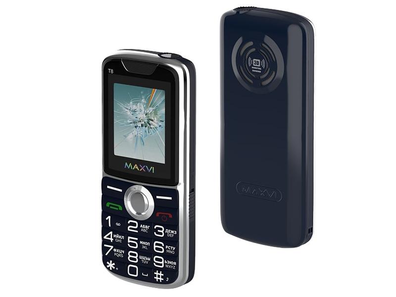 Фото - Сотовый телефон MAXVI T8 Dark Blue сотовый телефон