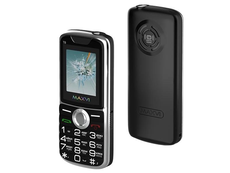 Сотовый телефон Maxvi T8 Black
