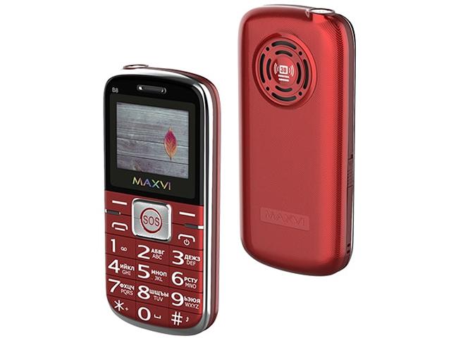 Сотовый телефон Maxvi B8 Red