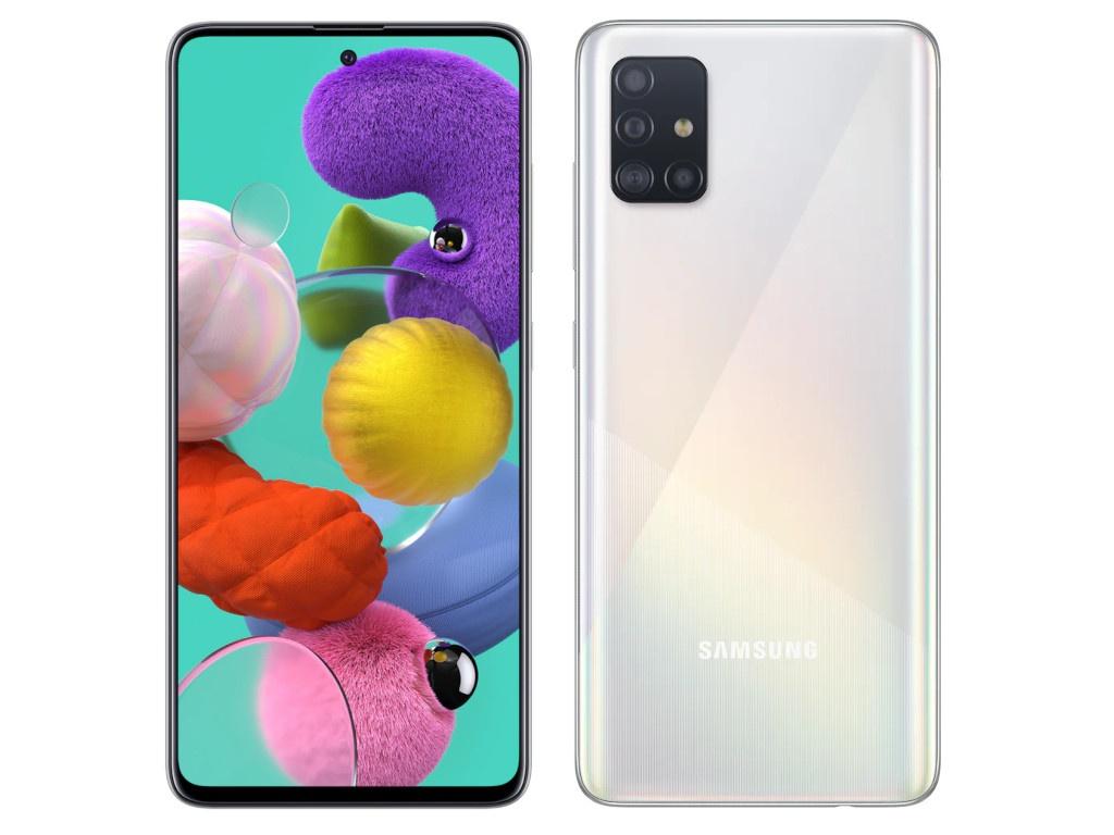 Сотовый телефон Samsung SM-A515F Galaxy A51 4Gb/64Gb White Выгодный набор для Selfie + серт. 200Р!!! сотовый телефон samsung sm a515f galaxy a51 4gb 64gb black
