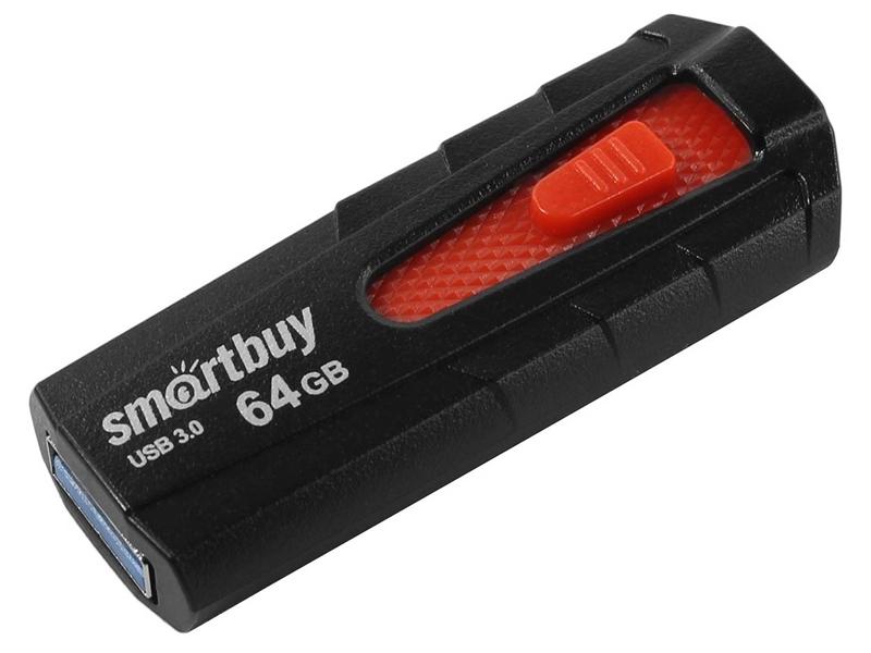 Фото - USB Flash Drive 64Gb - SmartBuy Iron Black-Red SB64GBIR-B3 клавиатура smartbuy one 112 black usb