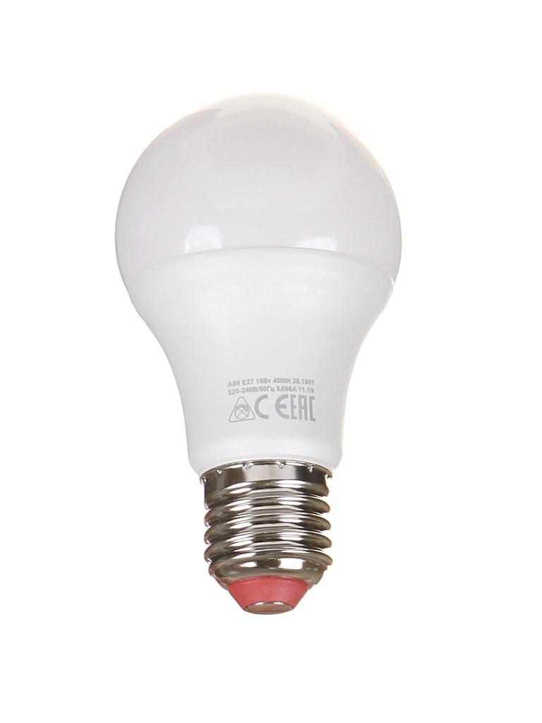 Лампочка Экономка Шарик Е27 А60 15W 230V 4500K 1350Lm Eco LED15wA60230vE2745