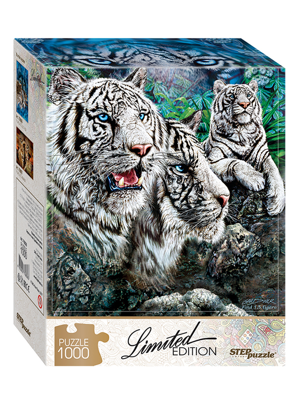 Пазл Step Puzzle Limited Edition. Найди 13 тигров 79808