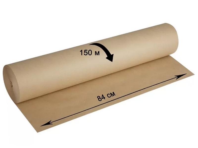 Крафт-бумага для упаковки OfficeSpace 840mm x 150m 293717