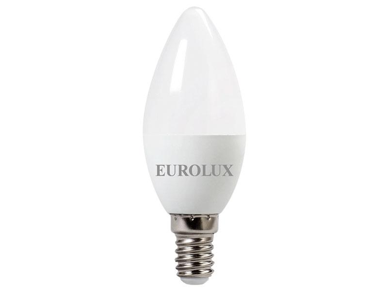Лампочка Eurolux Свеча LL-E-C37-5W-230-4K-E14 76/2/3