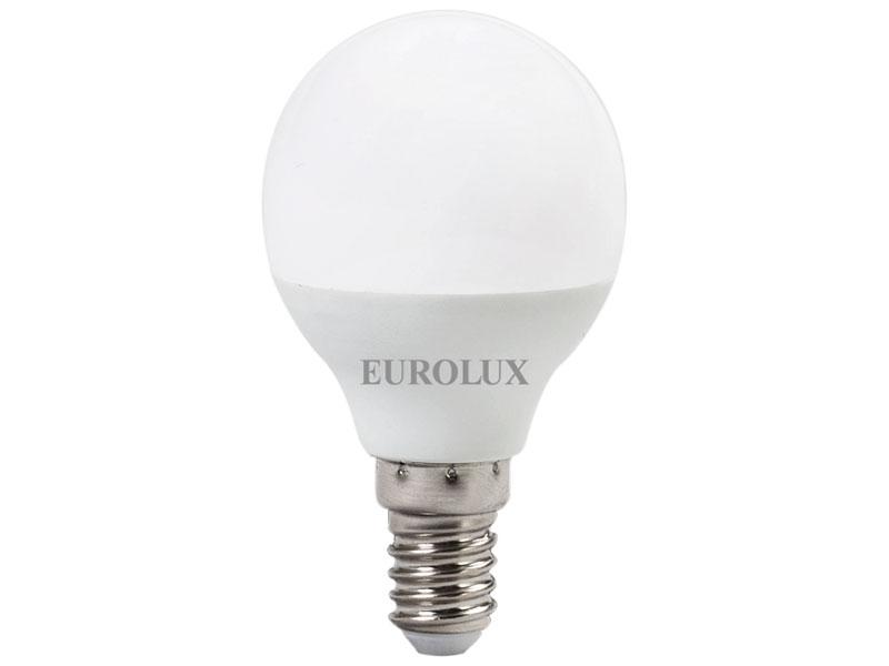 Лампочка Eurolux Шар LL-E-G45-7W-230-2.7K-E14 76/2/5