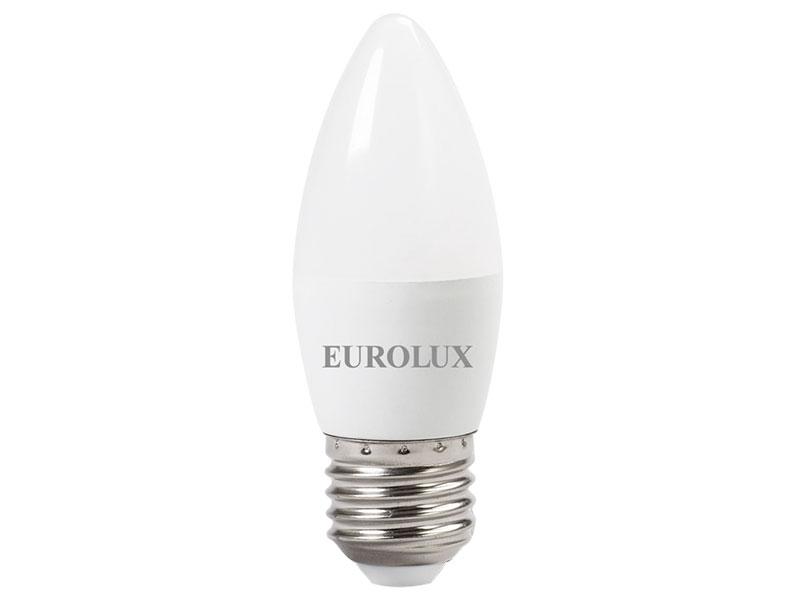 Лампочка Eurolux Свеча LL-E-C37-6W-230-4K-E27 76/2/10 фото